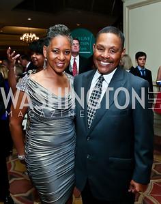 US Tennis Association VP Katrina Adams, Willis Thomas. Photo by Tony Powell. 2013 WTEF Tennis Ball. Ritz Carlton. May 10, 2013