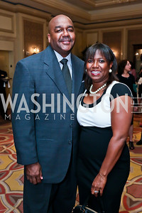 Coach John Thompson III and Monica Thompson. Photo by Tony Powell. 2013 WTEF Tennis Ball. Ritz Carlton. May 10, 2013
