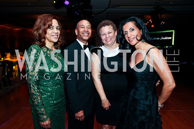 Beth Anne Moore, Thomas Motley, Debra Lee, Mori Taheripour. Photo by Tony Powell. WPAS Annual Gala & Auction. Ritz Carlton Hotel. April 13, 2013