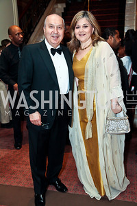 Lebanese Amb. Antoine Chedid and Nicole Chedid. Photo by Tony Powell. WPAS Annual Gala & Auction. Ritz Carlton Hotel. April 13, 2013