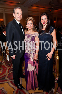 Arturo Sarukhan, Annie Totah, Veronica Valencia. Photo by Tony Powell. WPAS Annual Gala & Auction. Ritz Carlton Hotel. April 13, 2013