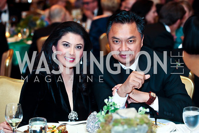 Rosa Djalal and Indonesian Amb. Dino Djalal. Photo by Tony Powell. WPAS Annual Gala & Auction. Ritz Carlton Hotel. April 13, 2013