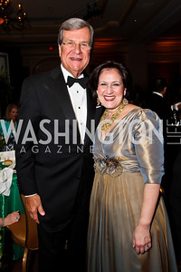 Trent Lott, Anita McBride. Photo by Tony Powell. WPAS Annual Gala & Auction. Ritz Carlton Hotel. April 13, 2013