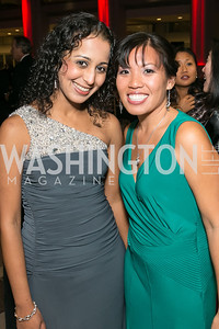 Roshni Dave, Mai-An Nguyen. Photo by Alfredo Flores. 2013 White Hat Gala. Ronald Reagan Building. October 24, 2013.