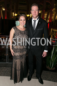 Heather Innella, Paul Innella. Photo by Alfredo Flores. 2013 White Hat Gala. Ronald Reagan Building. October 24, 2013.