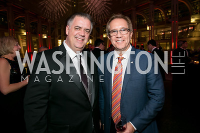 Tim Belcher, Eddie Schwartz. Photo by Alfredo Flores. 2013 White Hat Gala. Ronald Reagan Building. October 24, 2013.