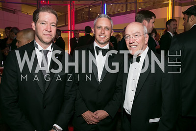 Paul Innella, Daniel Trent, Kurt Newman. Photo by Alfredo Flores. 2013 White Hat Gala. Ronald Reagan Building. October 24, 2013.