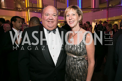 Andrew Blair, Katherine Blair. Photo by Alfredo Flores. 2013 White Hat Gala. Ronald Reagan Building. October 24, 2013.
