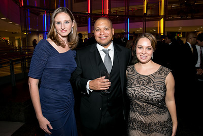 Anna Wheeler, Todd Valentine, Heather Innella. Photo by Alfredo Flores. 2013 White Hat Gala. Ronald Reagan Building. October 24, 2013.