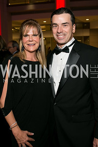 Leslie-Ann Kellan, Chris Zimmerman. Photo by Alfredo Flores. 2013 White Hat Gala. Ronald Reagan Building. October 24, 2013.