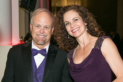 Bill Webb, Melanie Goran. Photo by Alfredo Flores. 2013 White Hat Gala. Ronald Reagan Building. October 24, 2013
