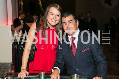 Allie Wiggins, Michael Koren. Photo by Alfredo Flores. 2013 White Hat Gala. Ronald Reagan Building. October 24, 2013