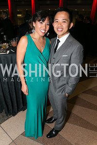 Mai-An Nguyen, Bach Vuong. Photo by Alfredo Flores. 2013 White Hat Gala. Ronald Reagan Building. October 24, 2013.