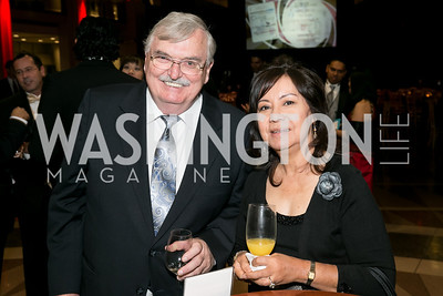 John White, Ciel Pilar. Photo by Alfredo Flores. 2013 White Hat Gala. Ronald Reagan Building. October 24, 2013