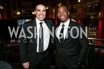 Fred Rica, Devin Gay. Photo by Alfredo Flores. 2013 White Hat Gala. Ronald Reagan Building. October 24, 2013.