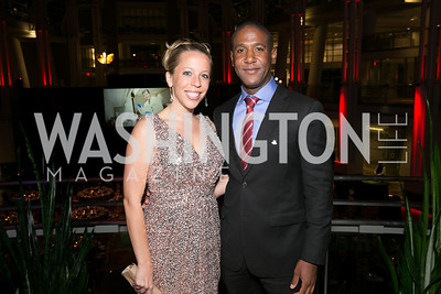 Emily Baday, Oba McMillan. Photo by Alfredo Flores. 2013 White Hat Gala. Ronald Reagan Building. October 24, 2013.