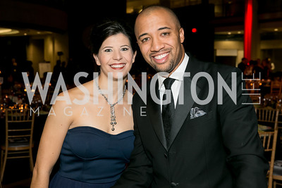 Genee Unger, Ryan Hayes. Photo by Alfredo Flores. 2013 White Hat Gala. Ronald Reagan Building. October 24, 2013