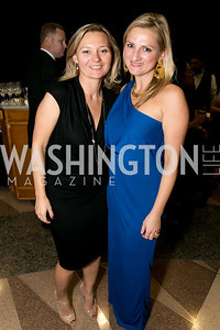Lina Luclair, Irena Simakova. Photo by Alfredo Flores. 2013 White Hat Gala. Ronald Reagan Building. October 24, 2013.