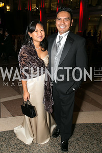 Sue Logan, Edward Logan. Photo by Alfredo Flores. 2013 White Hat Gala. Ronald Reagan Building. October 24, 2013.