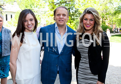 Sally Stiebel, Mark Ein, Miss America 2013 Mallory Hagan. Photo by Tony Powell. WHC Garden Brunch. Beall-Washington House. April 27, 2013