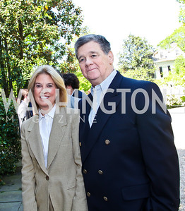 Greta Van Susteren and John P. Coale. Photo by Tony Powell. WHC Garden Brunch. Beall-Washington House. April 27, 2013