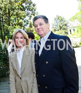 Greta Van Susteren and John P. Coale. Photo by Tony Powell. WHC Garden Brunch. Beall-Washington House. April 27, 2013