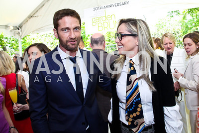 Gerard Butler, Sharon Stone. Photo by Tony Powell. WHC Garden Brunch. Beall-Washington House. April 27, 2013