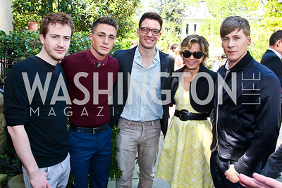Actors Joe Mazzello, Colton Haynes, JC Chasez, Yardley Smith, Dustin Lance Black. Photo by Tony Powell. WHC Garden Brunch. Beall-Washington House. April 27, 2013