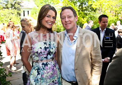 NBC News' Savannah Guthrie, Mike Feldman. Photo by Tony Powell. WHC Garden Brunch. Beall-Washington House. April 27, 2013
