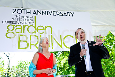 Susan and David Axelrod. Photo by Tony Powell. WHC Garden Brunch. Beall-Washington House. April 27, 2013