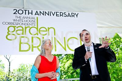 Susan and David Axelrod. Photo by Tony Powell. WHC Garden Brunch. Beall-Washington House. April 27, 2013