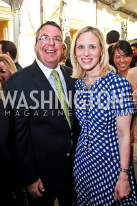 Philip Deutch and Marne Levine. Photo by Tony Powell. WHC Garden Brunch. Beall-Washington House. April 27, 2013