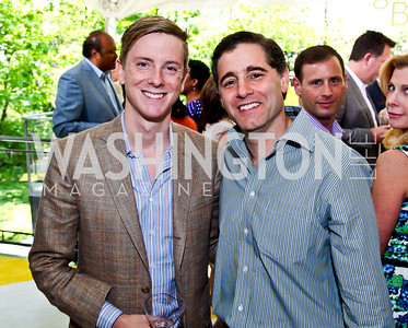 Chris Hughes, Julius Genachowski. Photo by Tony Powell. WHC Garden Brunch. Beall-Washington House. April 27, 2013