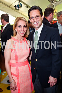 CNN anchor Dana Bash, Majority Leader Eric Cantor. Photo by Tony Powell. WHC Garden Brunch. Beall-Washington House. April 27, 2013
