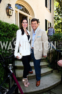 Amy and Bret Baier. Photo by Tony Powell. WHC Garden Brunch. Beall-Washington House. April 27, 2013