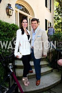 Amy and Bret Baier. Photo by Tony Powell. WHC Garden Brunch. Beall-Washington House. April 27, 2013