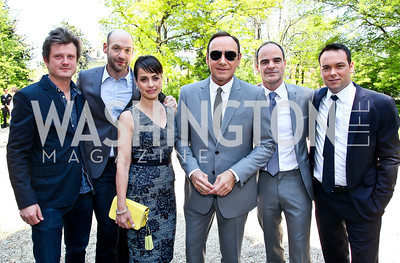 Producer Beau Willimon and the cast of House of Cards. Photo by Tony Powell. WHC Garden Brunch. Beall-Washington House. April 27, 2013