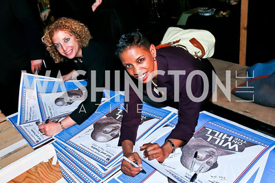 Rep. Debbie Wasserman Schultz, Rep. Donna Edwards. Photo by Tony Powell. Will on the Hill. Harman Center for the Arts. May 6, 2013