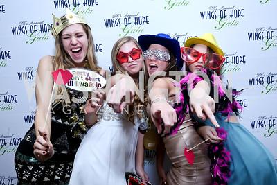 Rachel Stottlemyer, Kate Wilkinson, Lainey Petralkes, Michaela Wuest. Photo by Tony Powell. 2013 Wings of Hope Gala. Trump National Golf Club. November 9, 2013