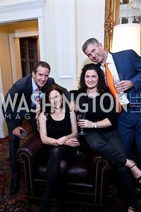 Mike Saliter, Linda Warren, Erin Saliter, Matt Warren. Photo by Tony Powell. 2013 Wings of Hope Gala. Trump National Golf Club. November 9, 2013