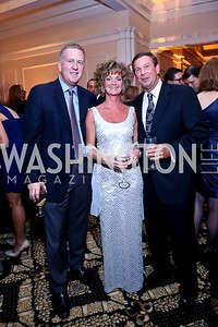 Mike Muehr, Rosemary and Neill Blum. Photo by Tony Powell. 2013 Wings of Hope Gala. Trump National Golf Club. November 9, 2013
