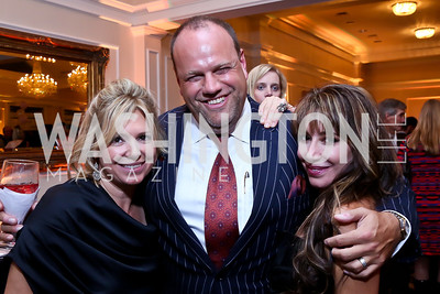 Camille Battaglia, Phil Simonides, Sandy Potteiger. Photo by Tony Powell. 2013 Wings of Hope Gala. Trump National Golf Club. November 9, 2013