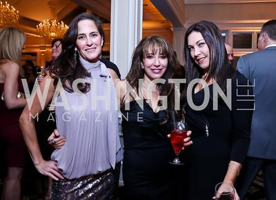 Heidi Mraz, Sandy Potteiger, Florence Cottet-Moine. Photo by Tony Powell. 2013 Wings of Hope Gala. Trump National Golf Club. November 9, 2013