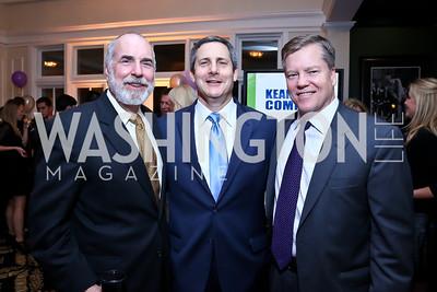 Tim Turnham, Steve Silverstein, Tucker Eskew. Photo by Tony Powell. 2013 Wings of Hope Gala. Trump National Golf Club. November 9, 2013