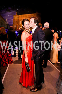Stacey Pavesi Debre and Guillaume Debre. Photo by Tony Powell. 2013 Wolf Trap Ball. September 21, 2013