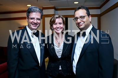 French Amb. Francois Delattre and Sophie Delattre, Francois, Wolf Trap President and CEO Arvind Manocha. Photo by Tony Powell. 2013 Wolf Trap Ball. September 21, 2013