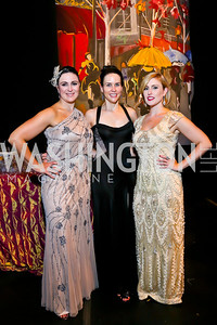 Emily Holubowich, Megan Cundari, Samantha Burch. Photo by Tony Powell. 2013 Wolf Trap Ball. September 21, 2013