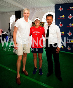 David Gregory,Martina Hingis,Indonesian Amb.Dino Djalal,,July 18,2013,2nd Annual Washington Kastles Charity Classic,Kyle Samperton