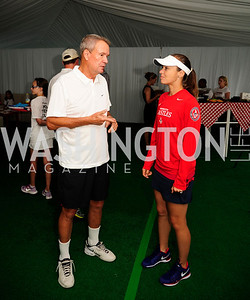 John Breaux,Martina Hingis,July 18,2013,2nd Annual Washington Kastles Charity Classic,Kyle Samperton