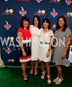 Kathy Stephens,Diana Hosford,Jen Haber,Erin Hudson,July 18,2013,2nd Annual Washington Kastles Charity Classic,Kyle Samperton